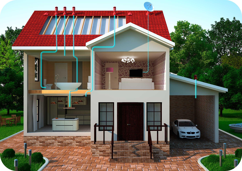 фото проектов вентиляции частного дома региона является